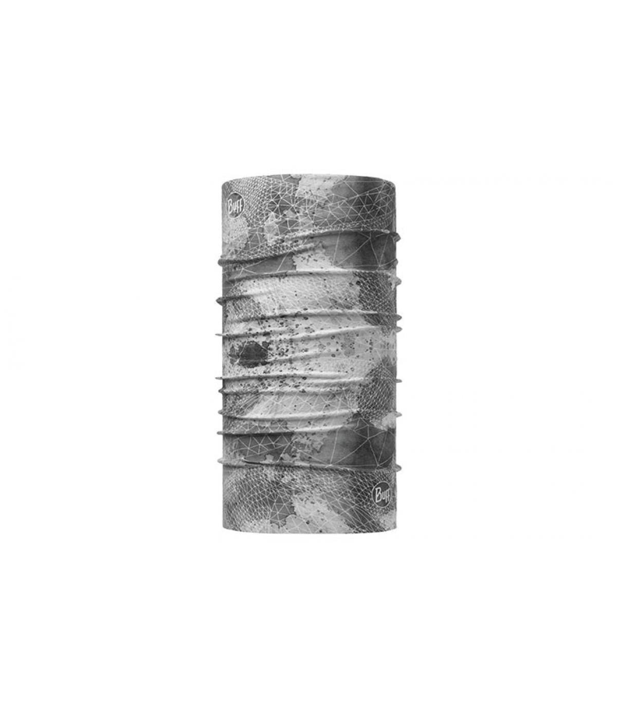 Buff grigio chiaro stampato