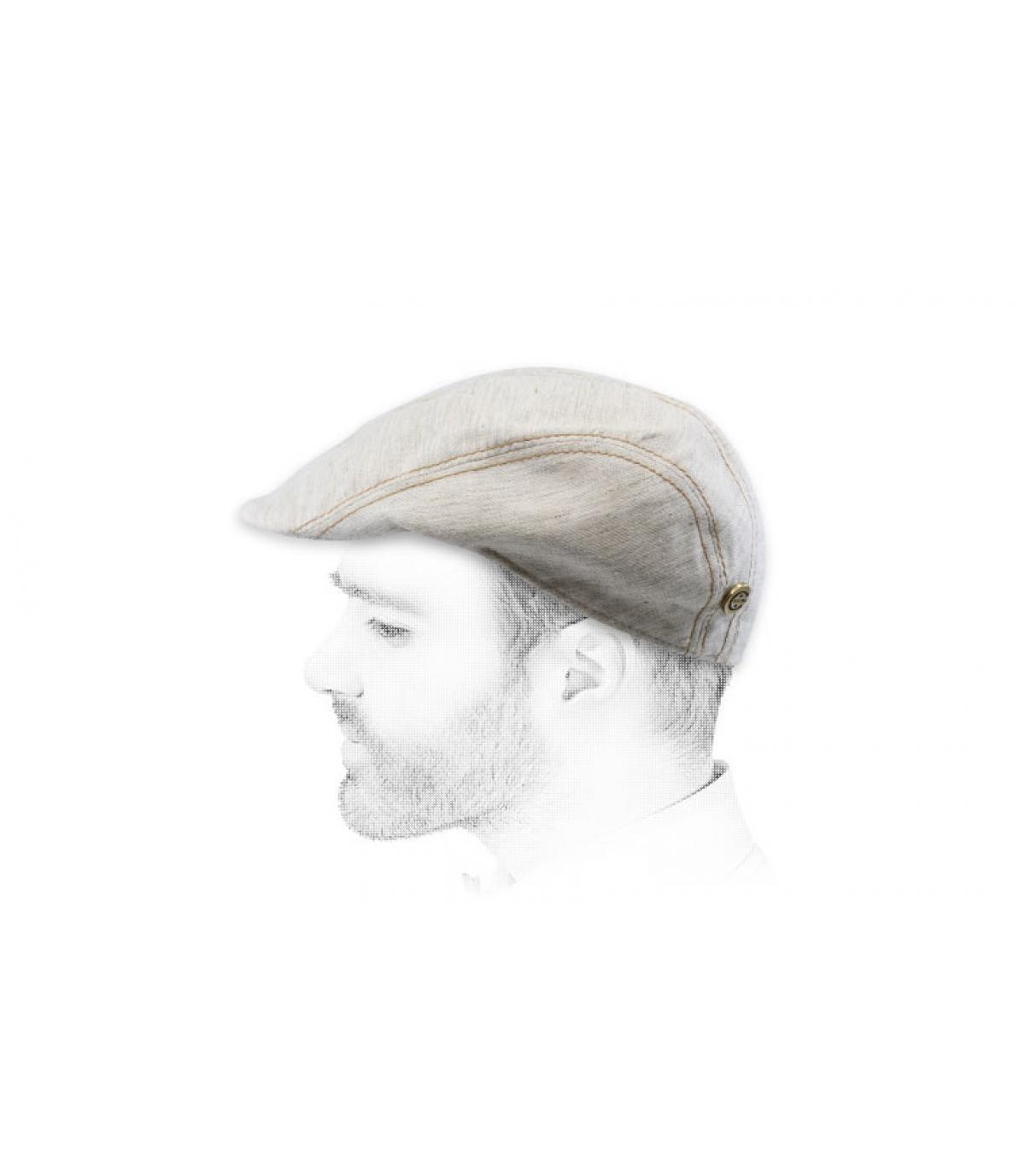 tessuto beige berretto