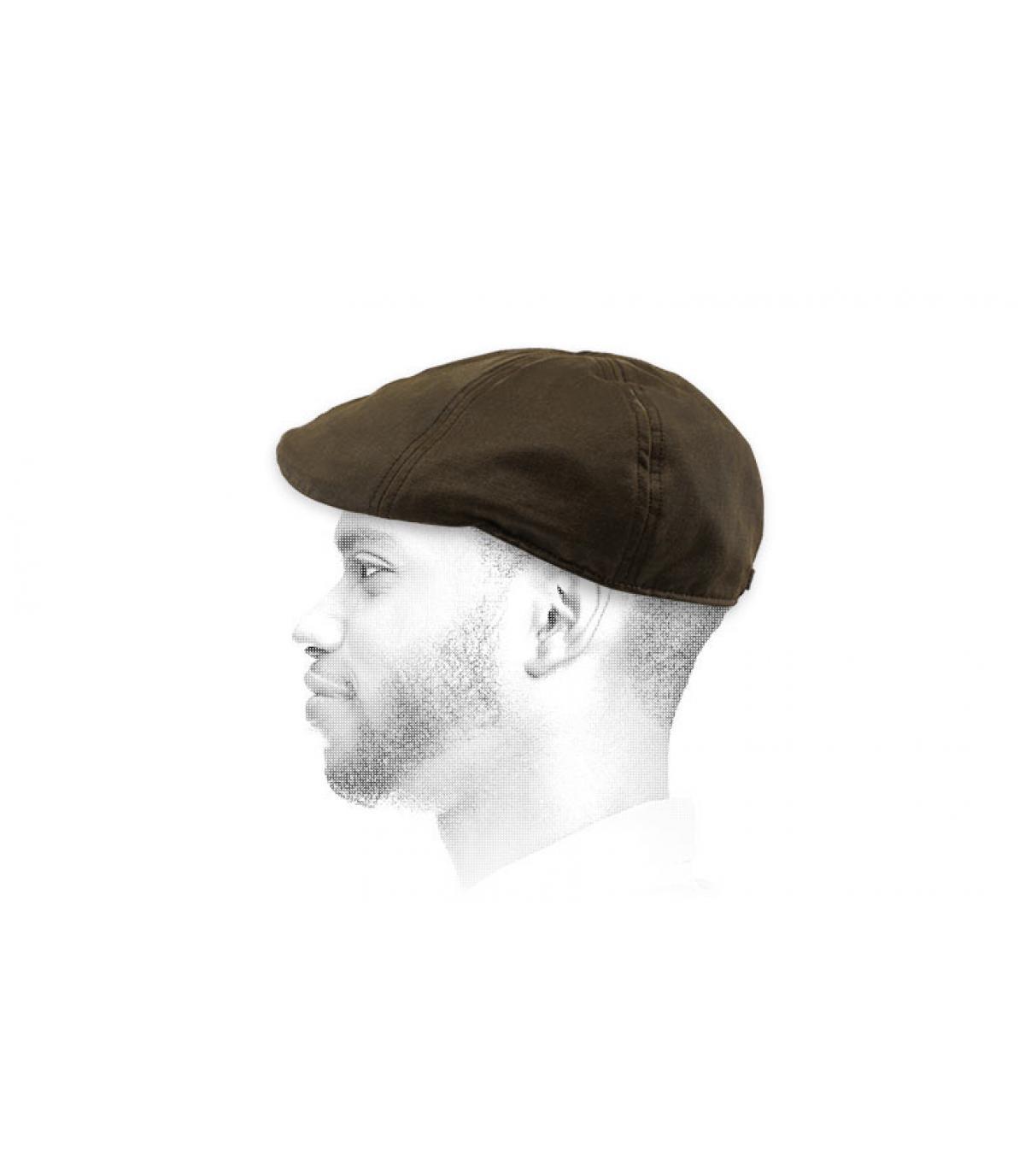 berretto di cotone marrone