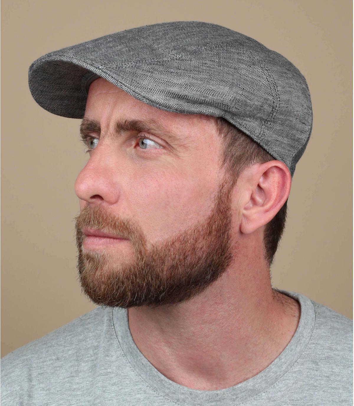 berretto grigio lino