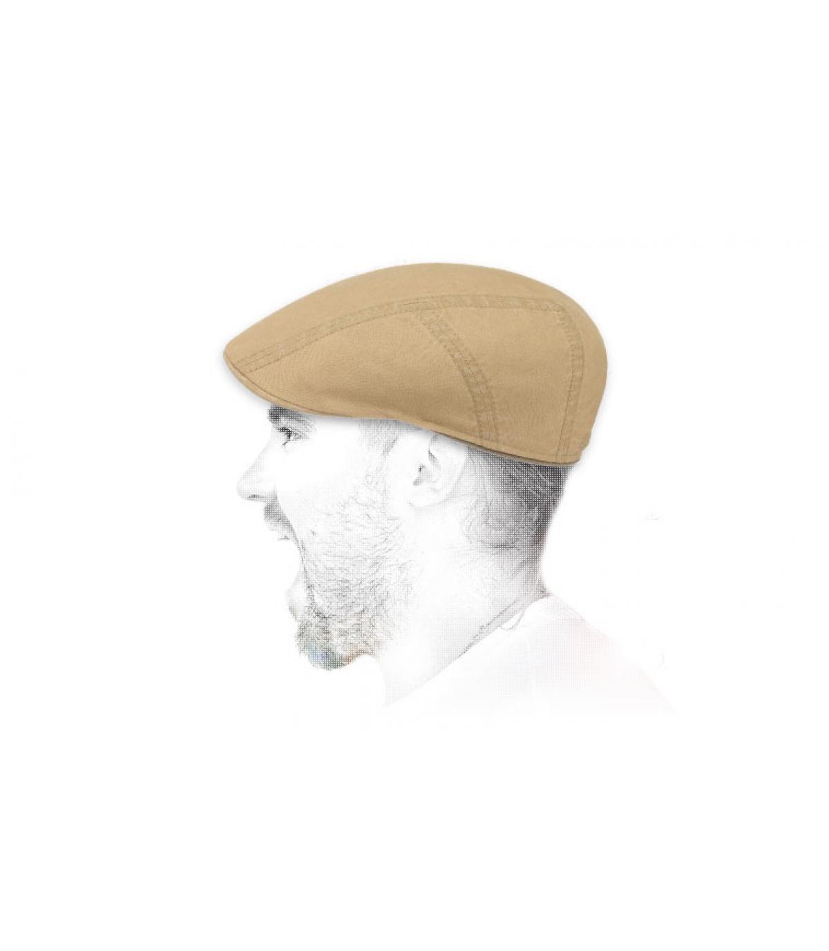 berretto beige di cotone beige