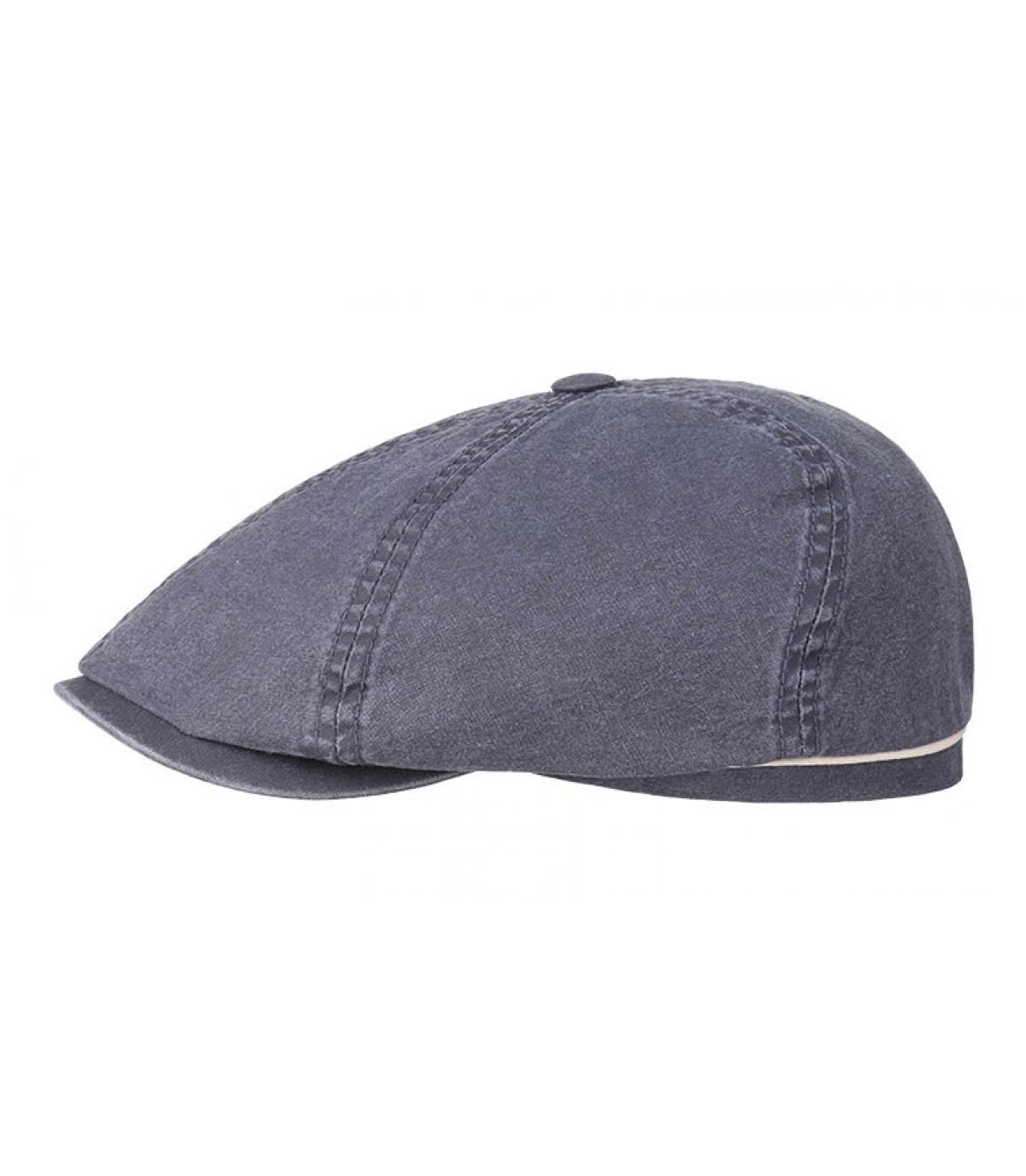 Dettagli Brooklyn cap waxed cotton organic blue - image 2