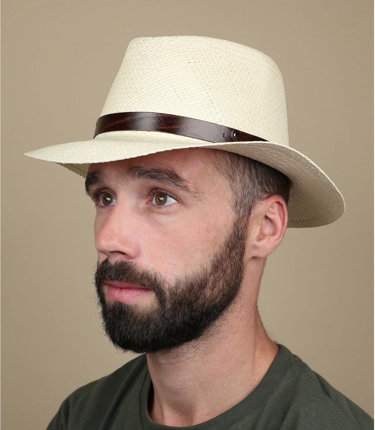 cappello di panama beige