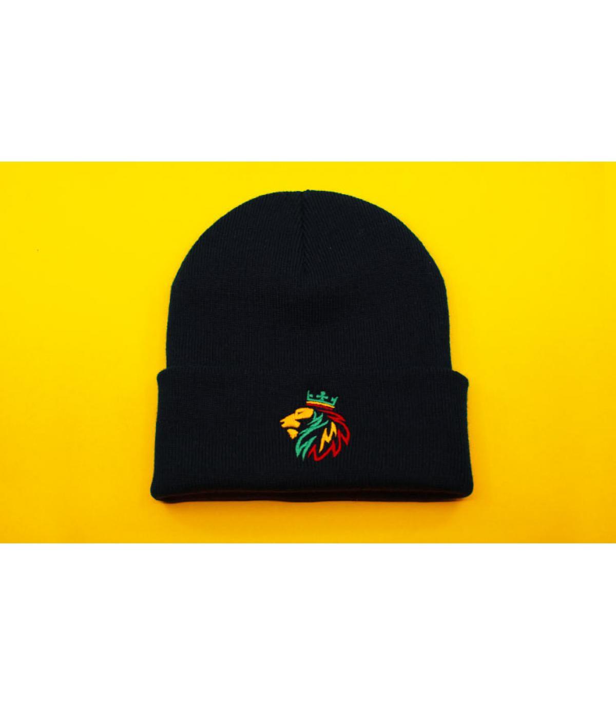 berretto nero rasta