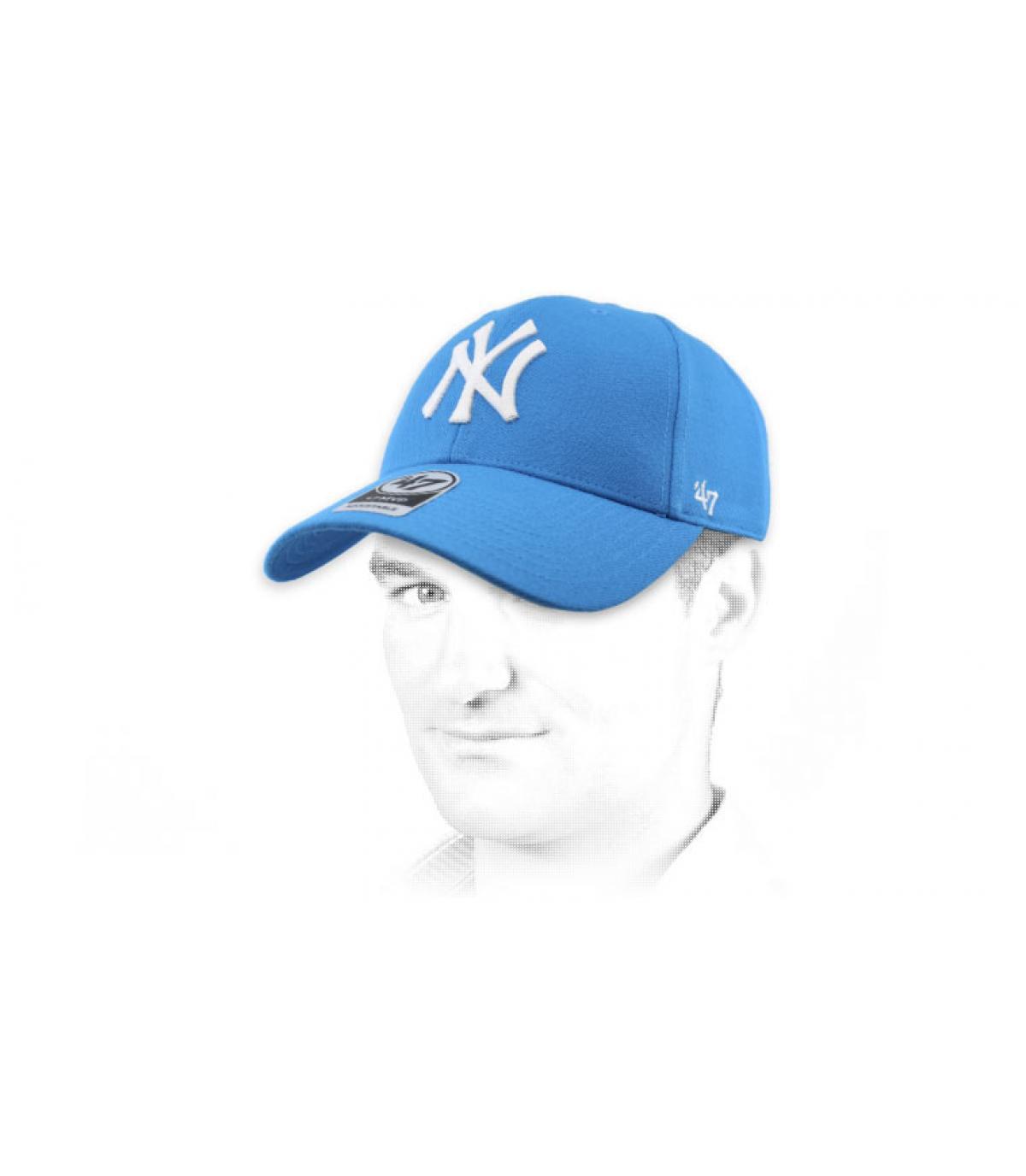 berretto NY chiaro blu 47
