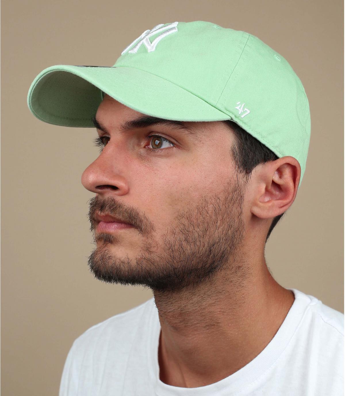 berretto NY verde chiaro
