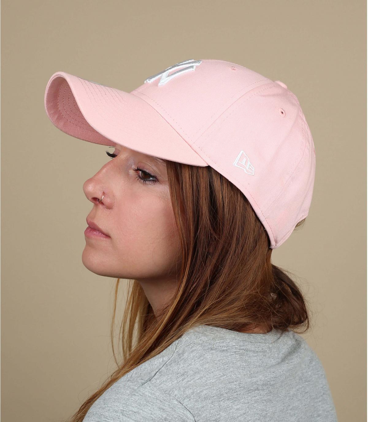 berretto NY rosa