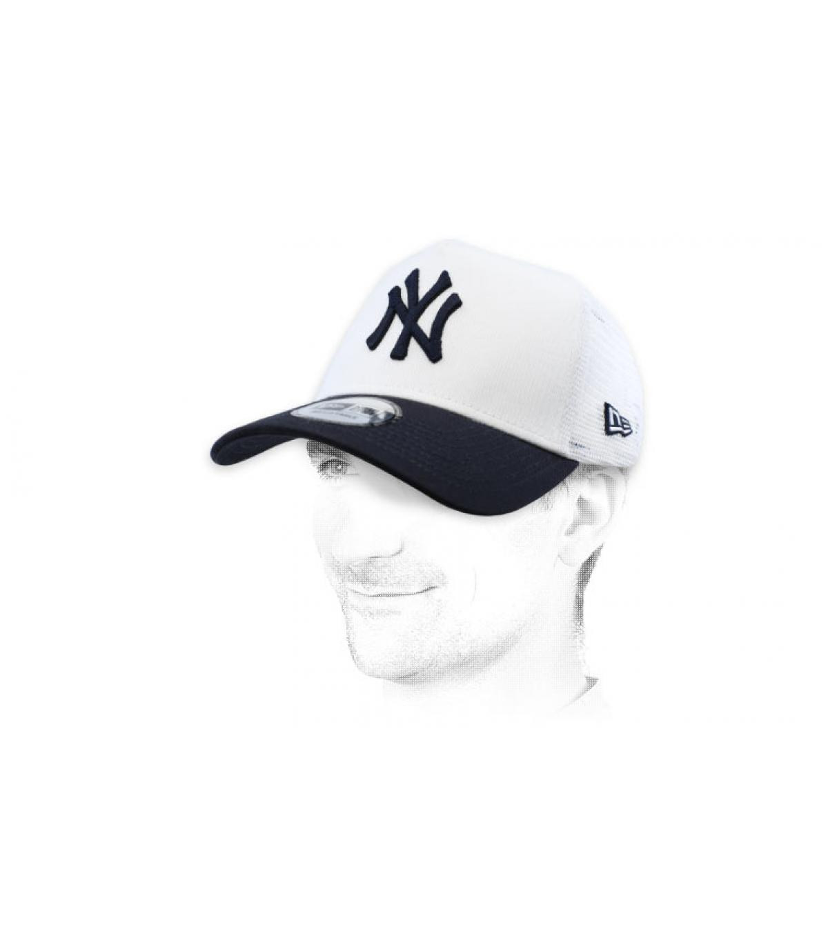 NY trucker bianco blu