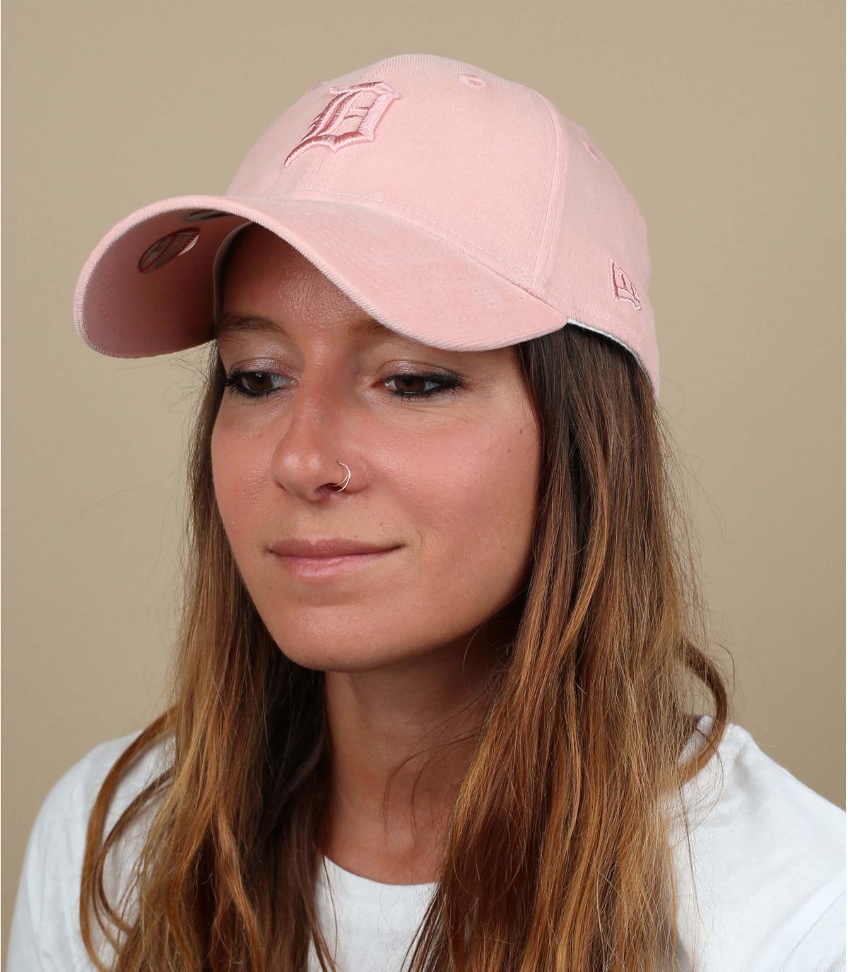 cap Detroit donna rosa