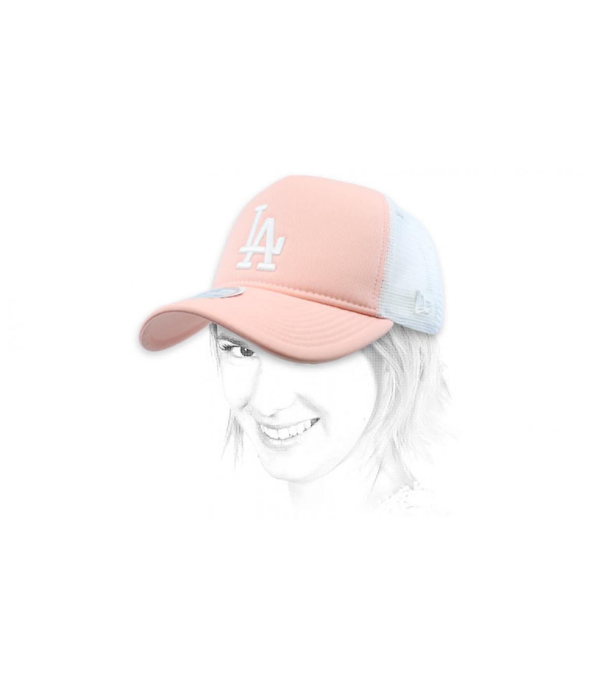 trucker LA donna rosa