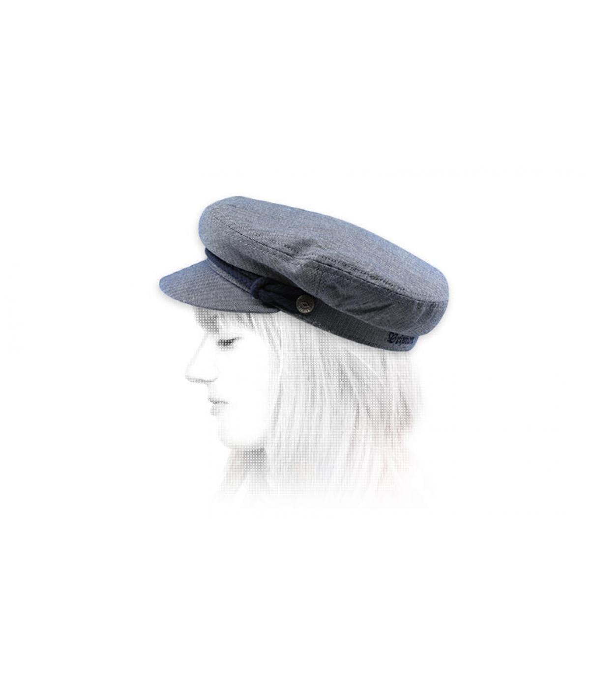 berretto blu donna