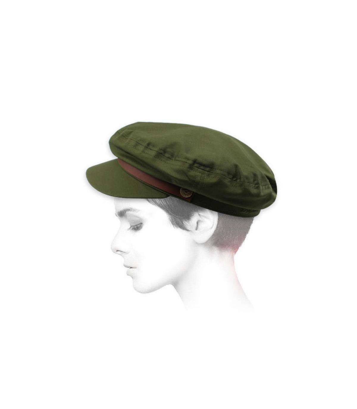 berretto oliva donna oliva