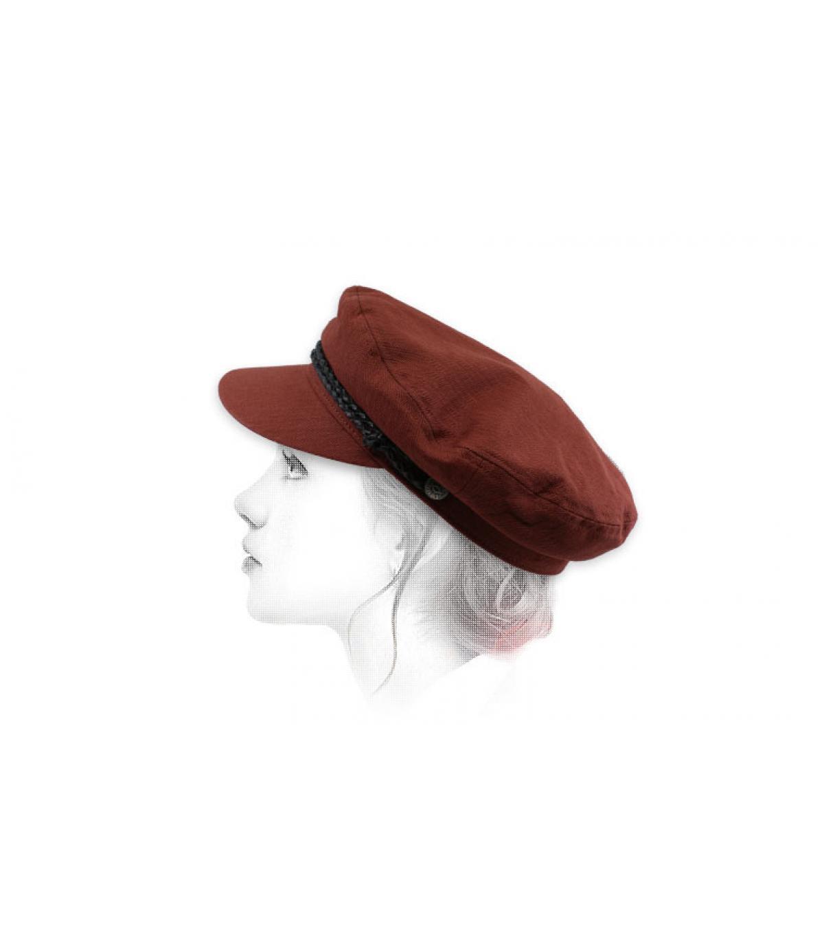 berretto da donna bordeaux
