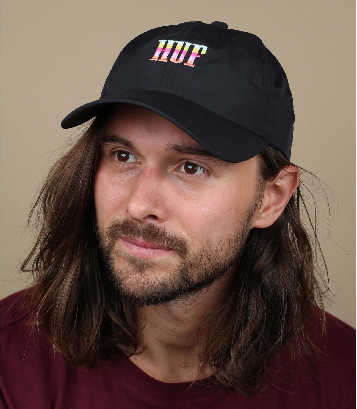 Cappellino Huf rosa nero