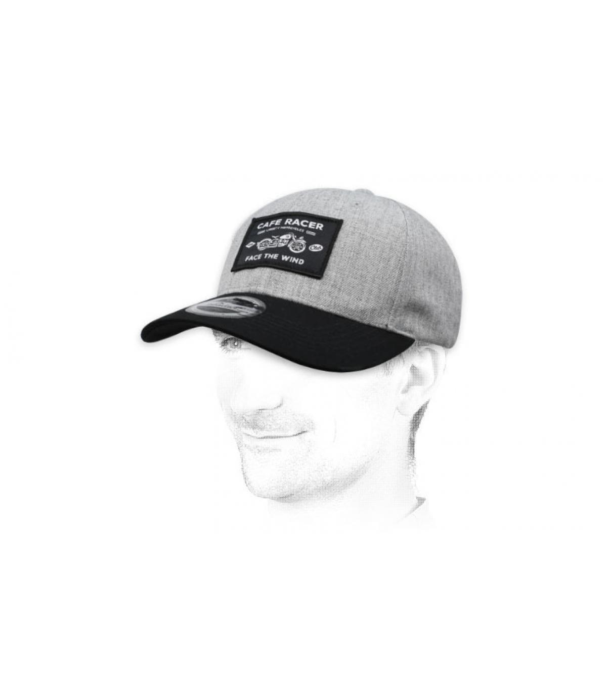 Cappellino Café Racer grigio