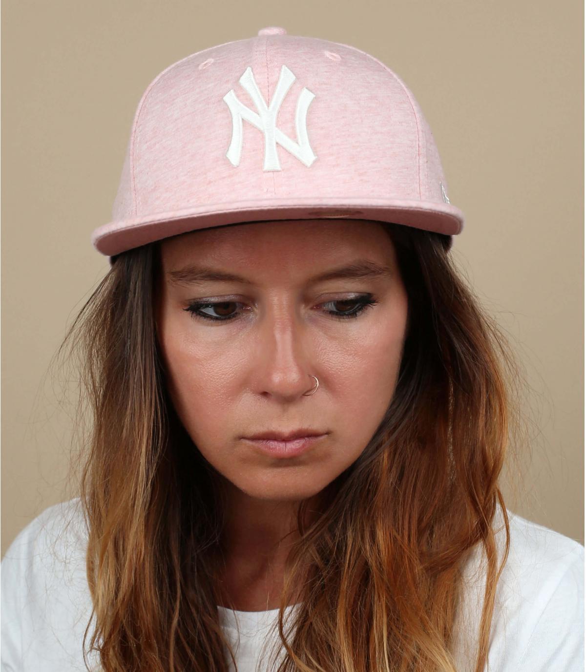 snapback NY rosa pallido