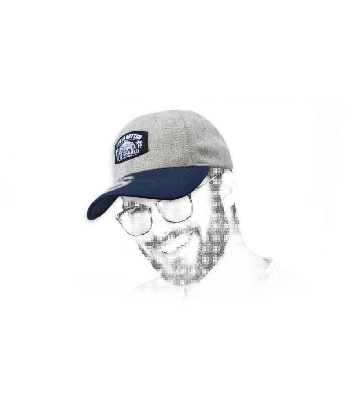 berretto tandem grigio blu