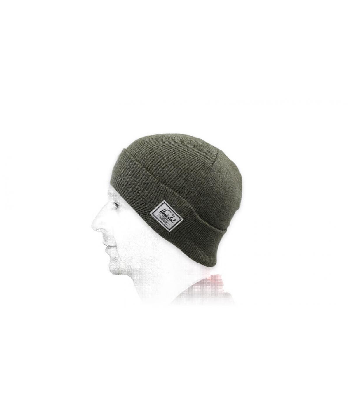 cappello reversibile Herschel verde