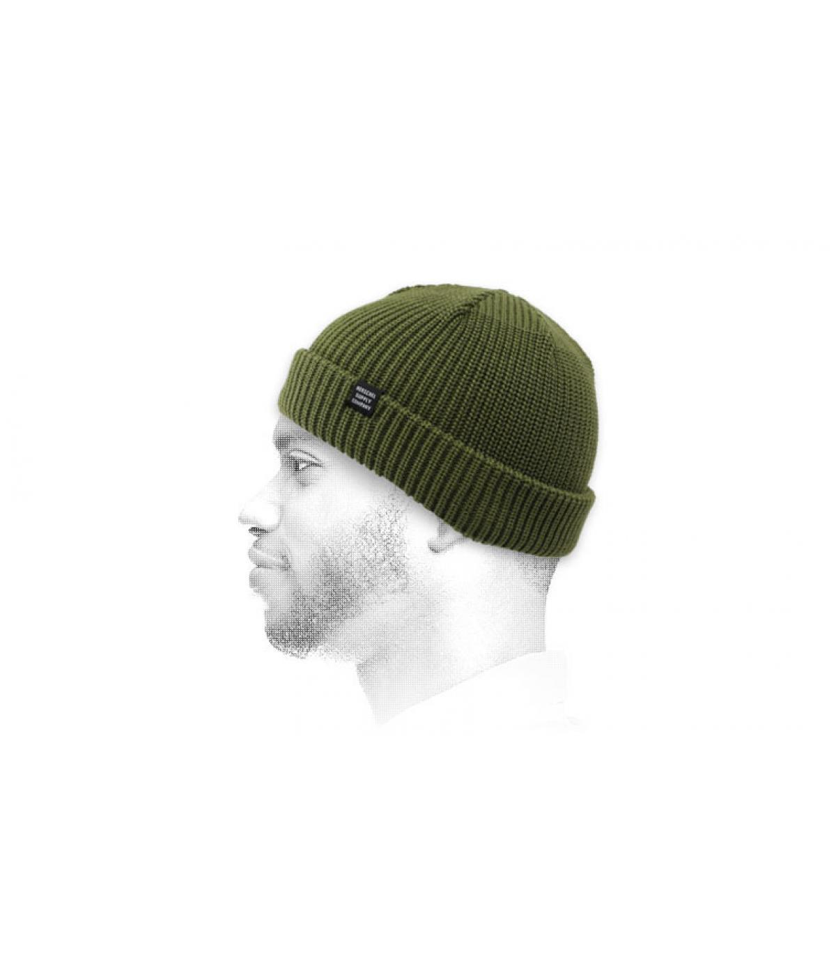 cappello docker verde Herschel