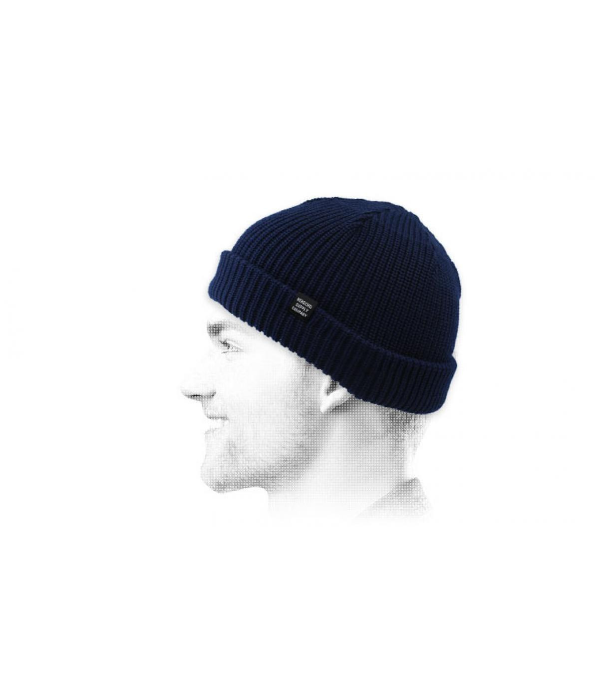 cappello docker blu Herschel