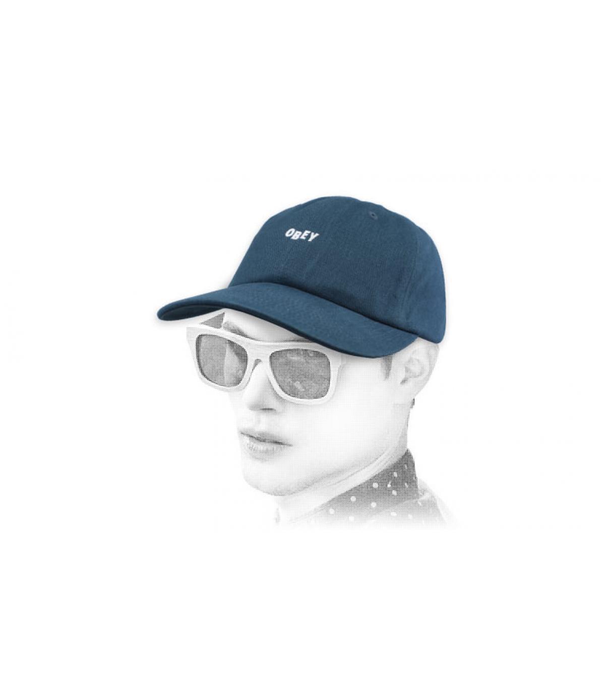berretto blu Obey