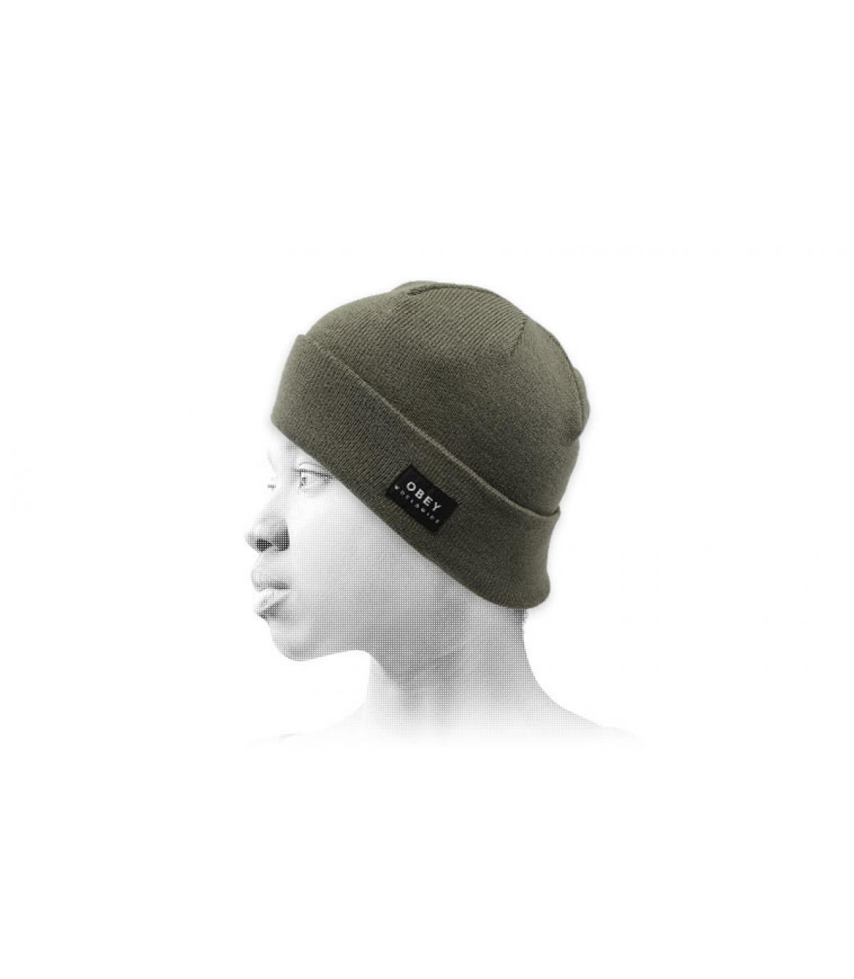 cappello reversibile verde Obey
