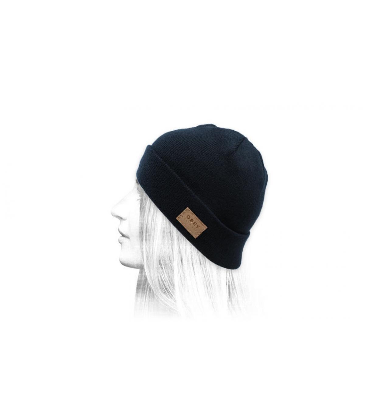 cappello reversibile blu Obey