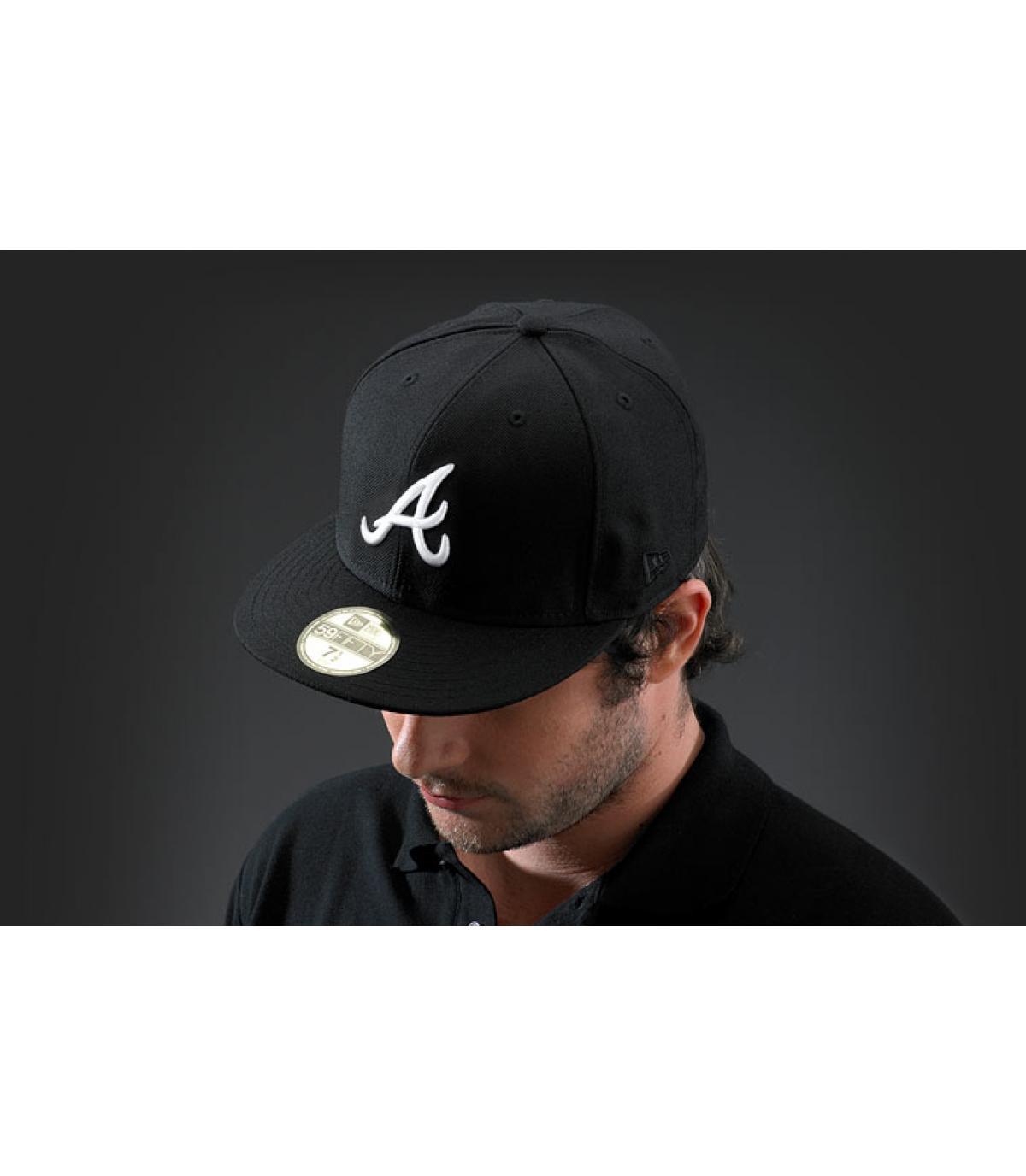 Cappellino atlanta nero bianco