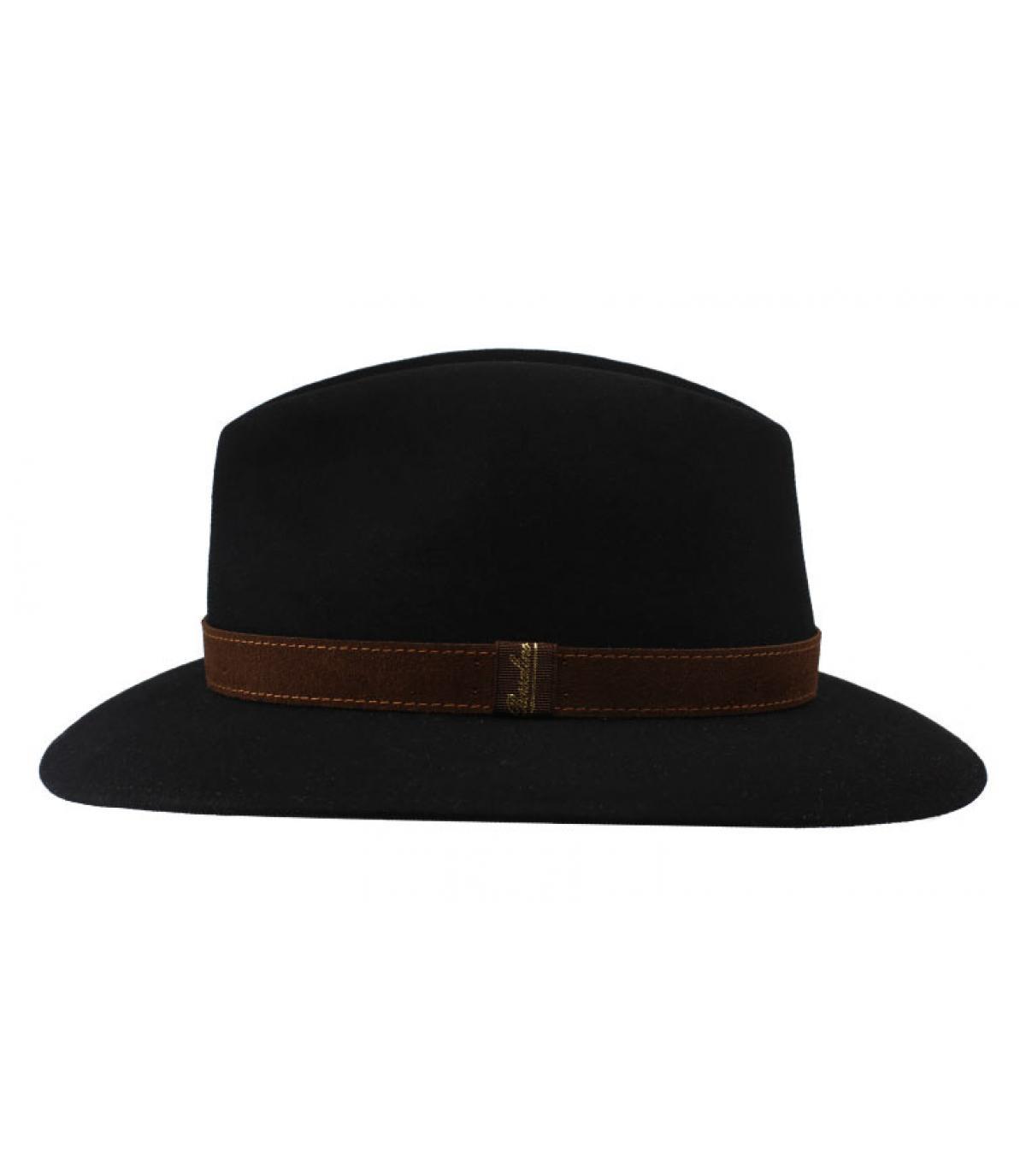 fedora feltro nero Borsalino. Dettagli Alessandria black Fur Flet Hat -  image 4  Dettagli Alessandria black Fur Flet Hat - image 1 ... 28055c63c24d