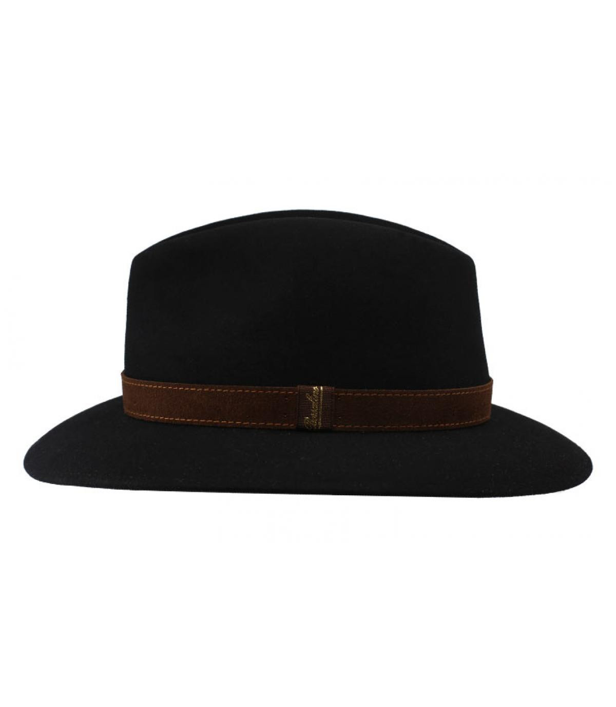 fedora feltro nero Borsalino - Alessandria black Fur Flet Hat da ... cb0bd4e0dae6