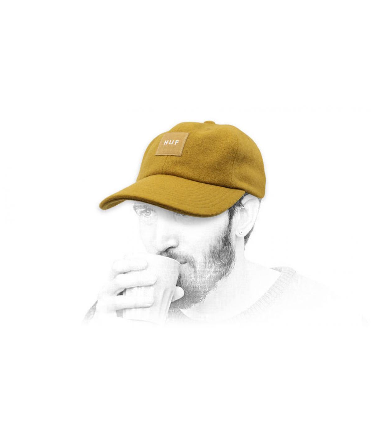 cappello di lana Melton Huf giallo