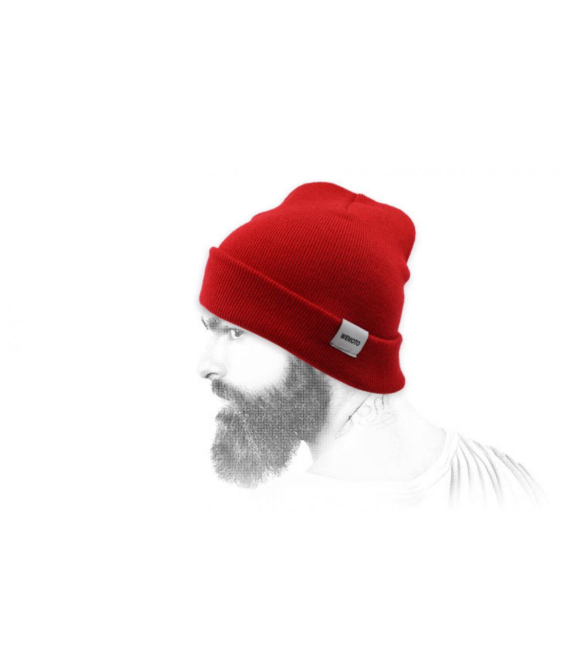 cappello a bavero rosso Wemoto