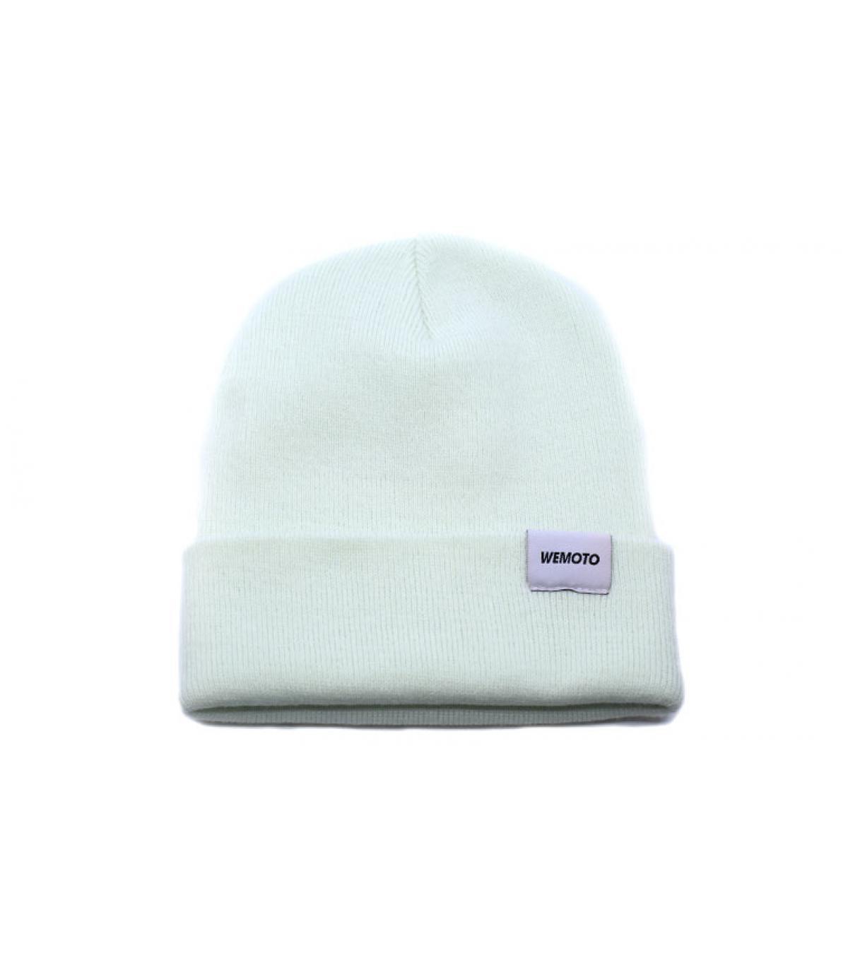 cappellino blu con risvolto