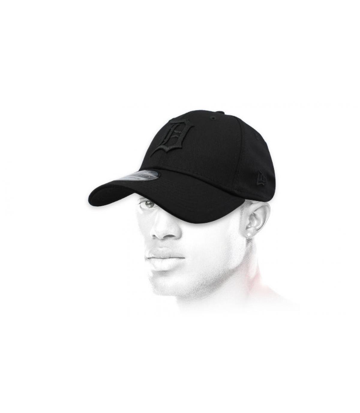 berretto nero di Detroit