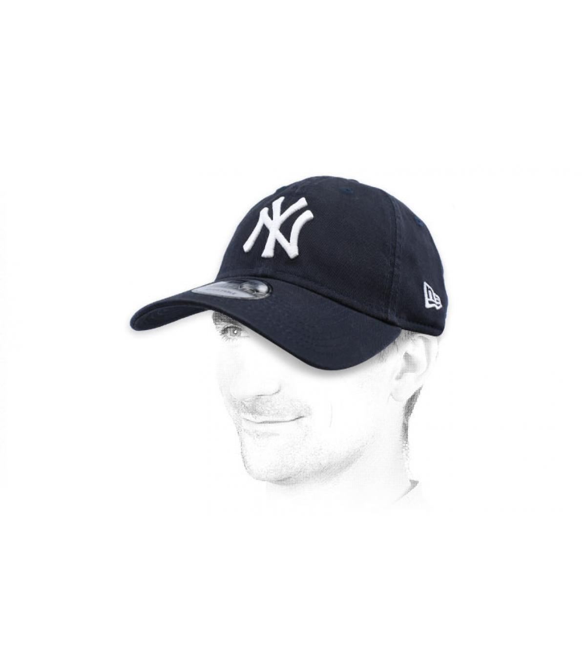 berretto NY blu bianco