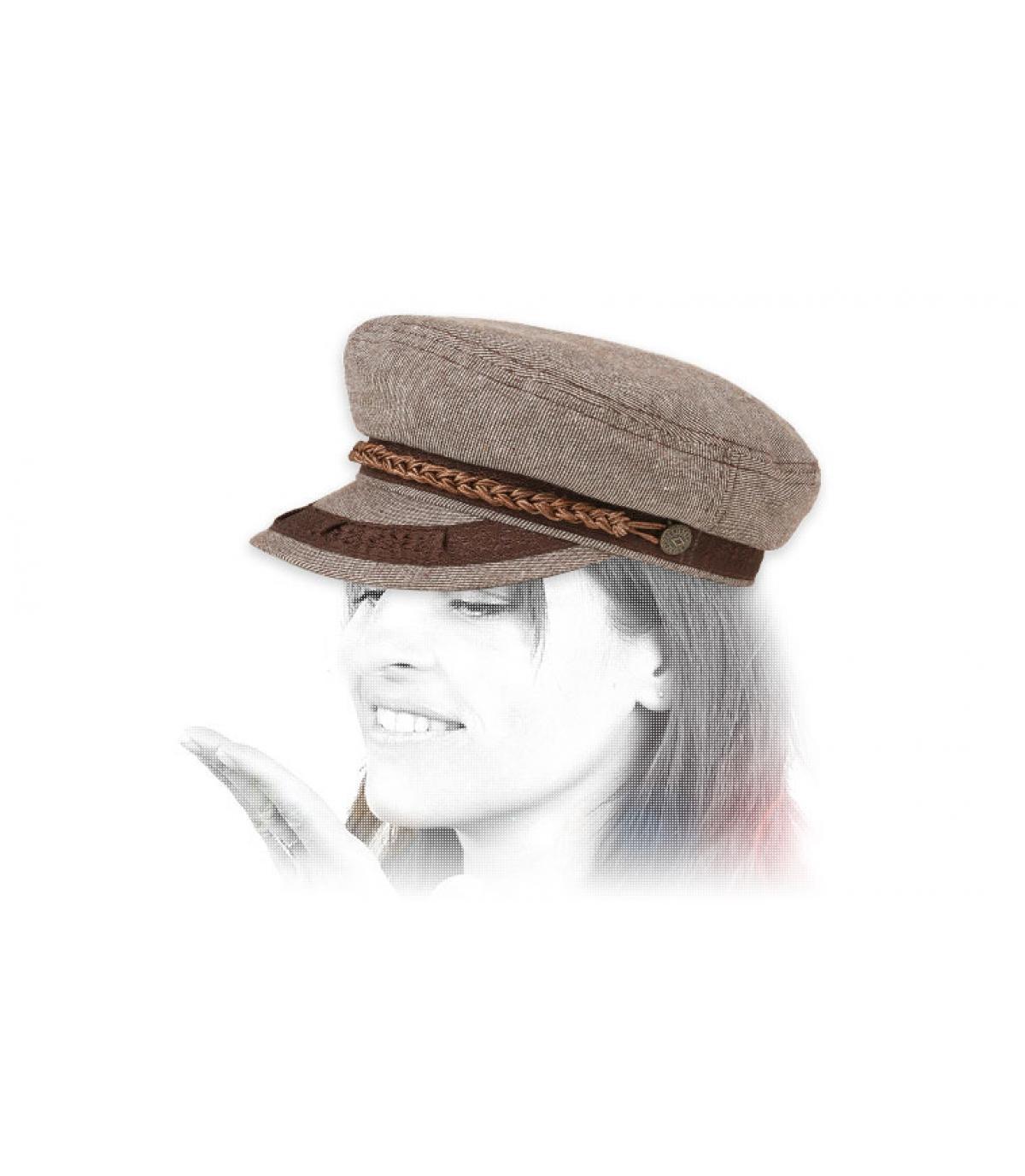 Brixton berretto da marinaio beige