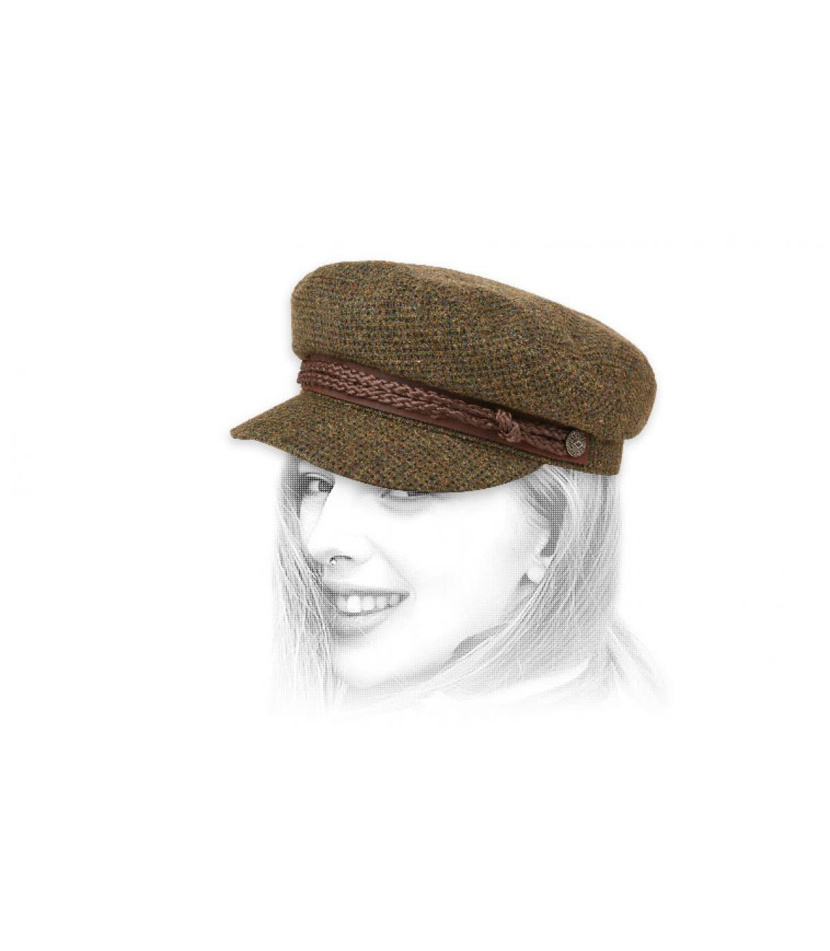berretto verde donna