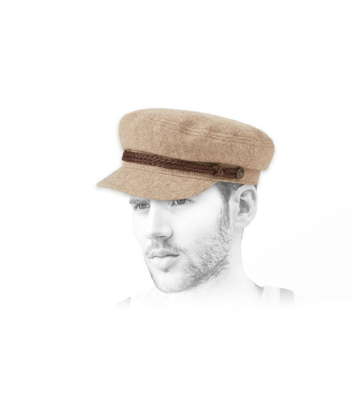 cappello a vela beige