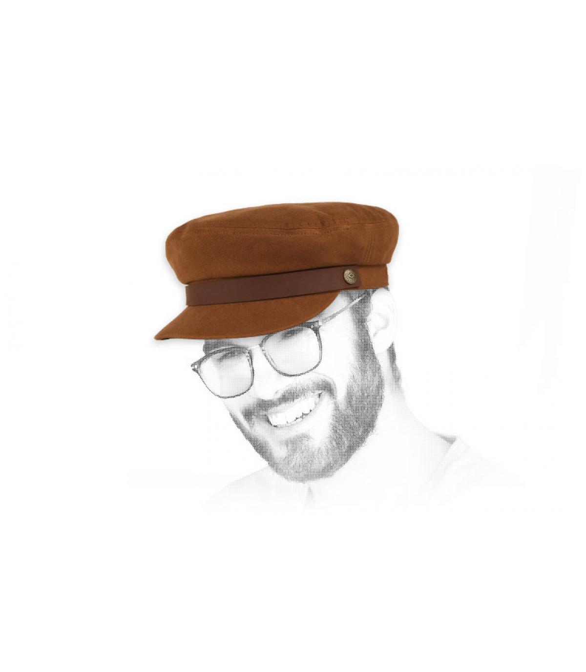 berretto da marinaio marrone