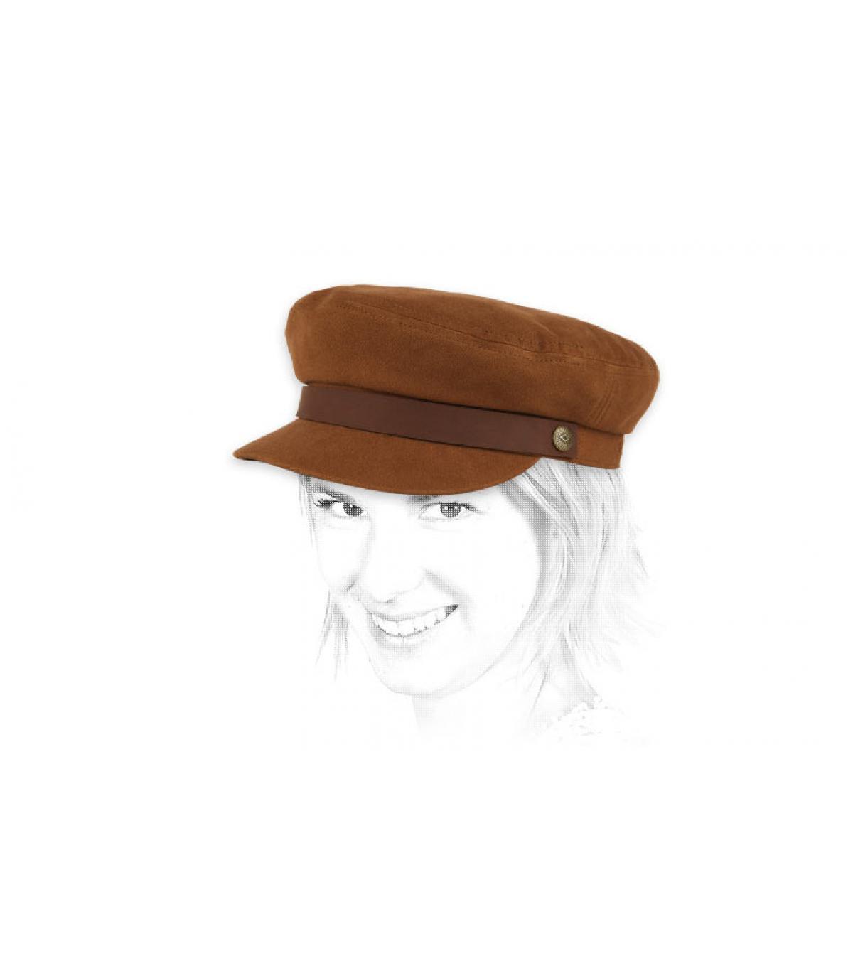 berretto marrone donna