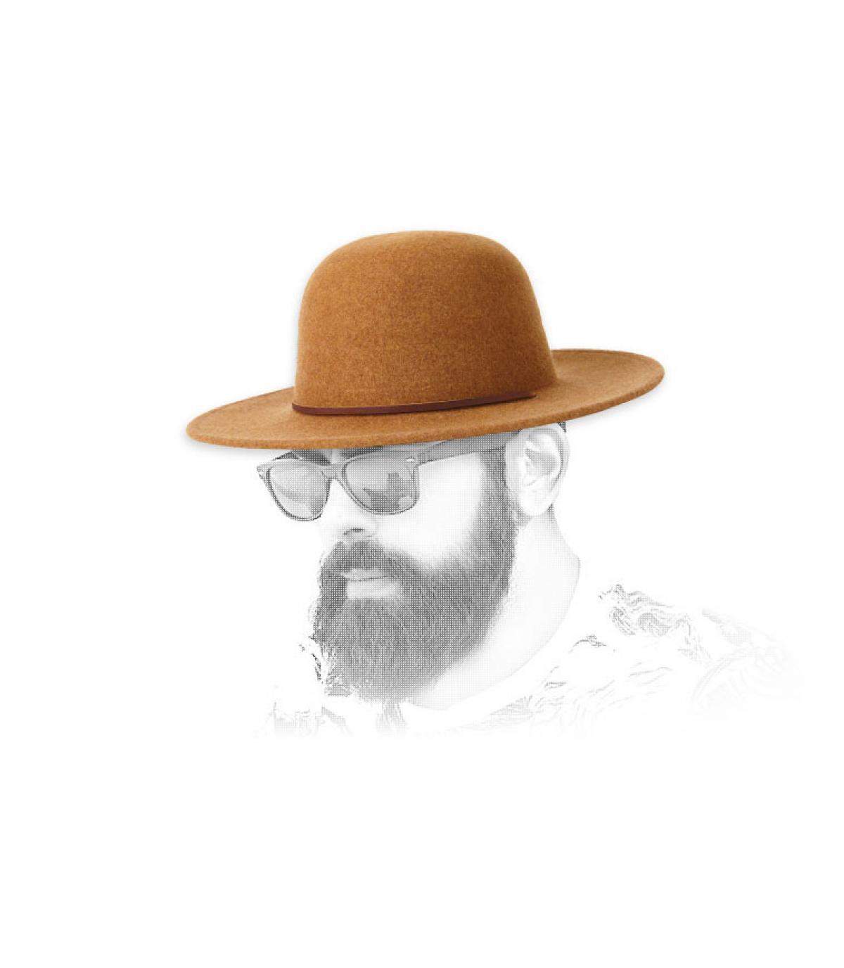 cappello di feltro beige Brixton