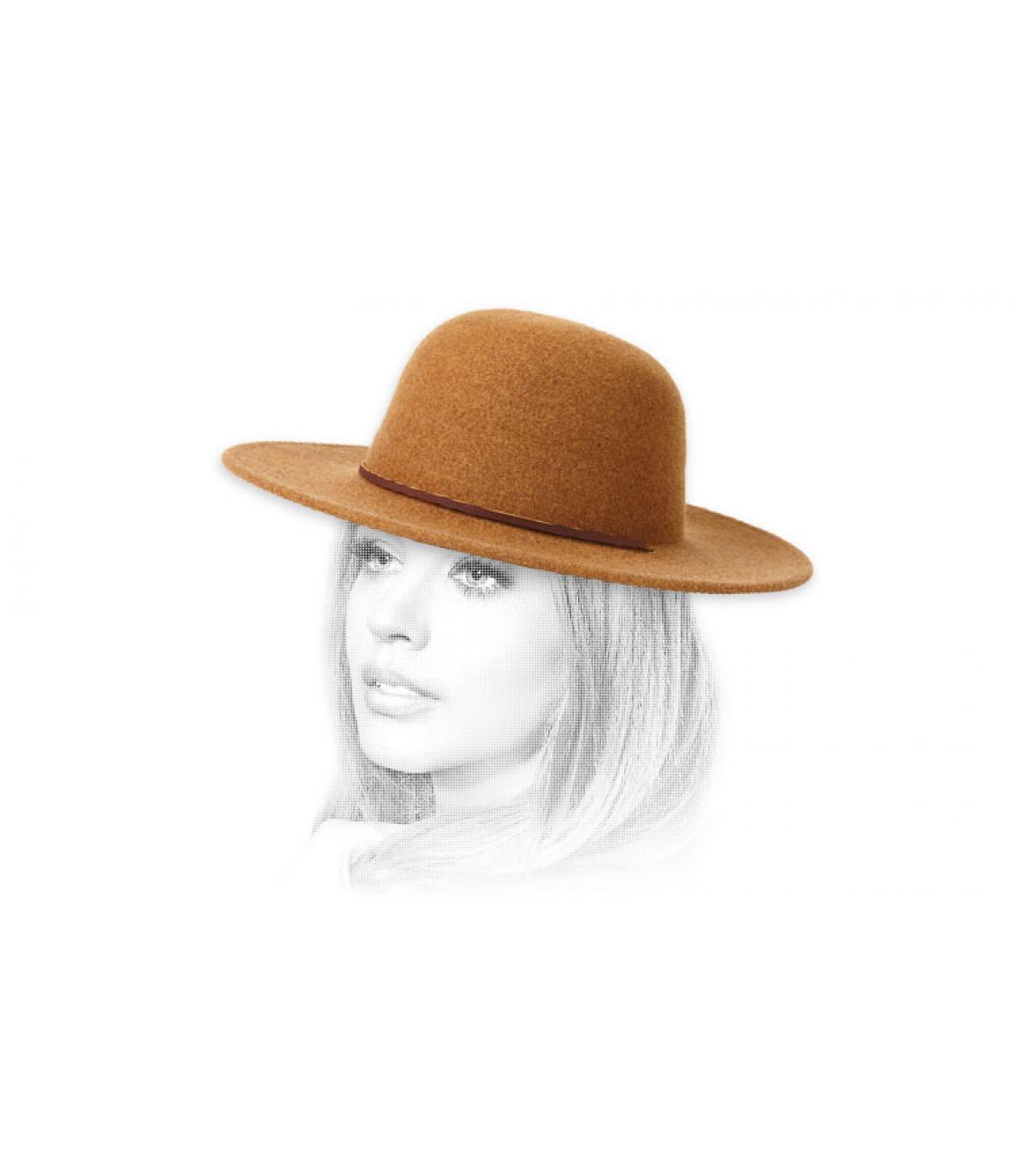 cappello di feltro donna beige