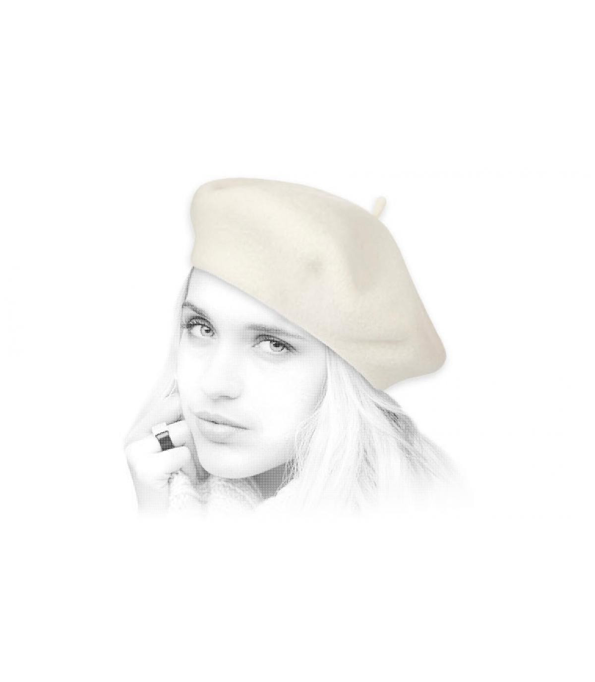 berretto di lana beige Laulhère
