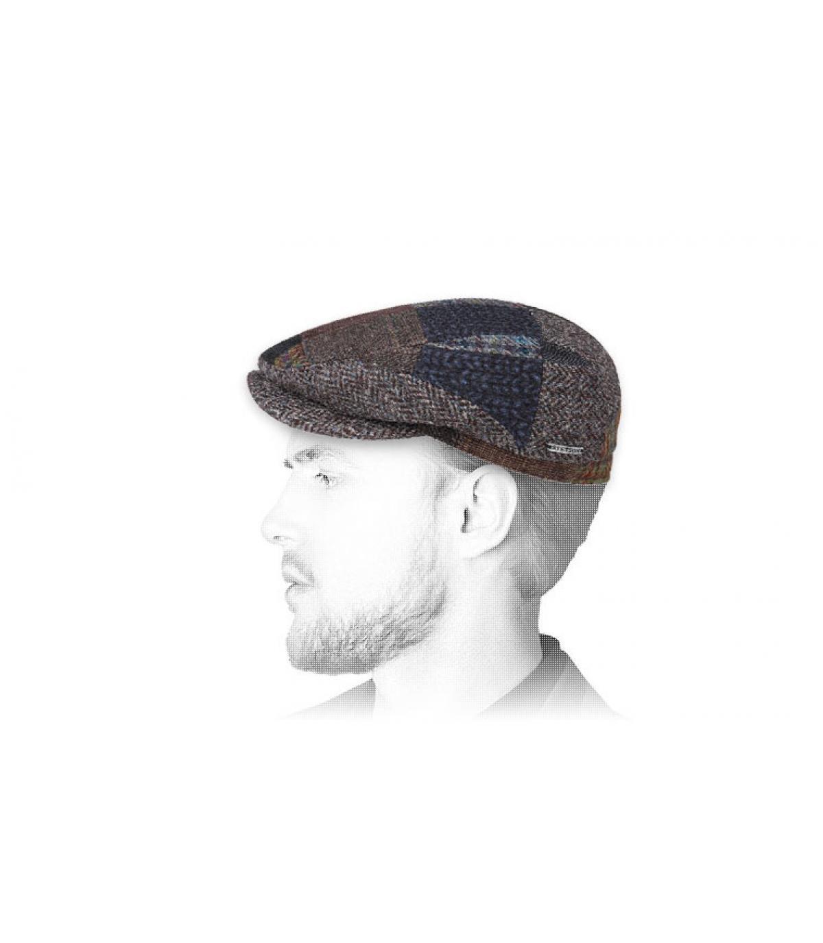 berretto di lana patchwork