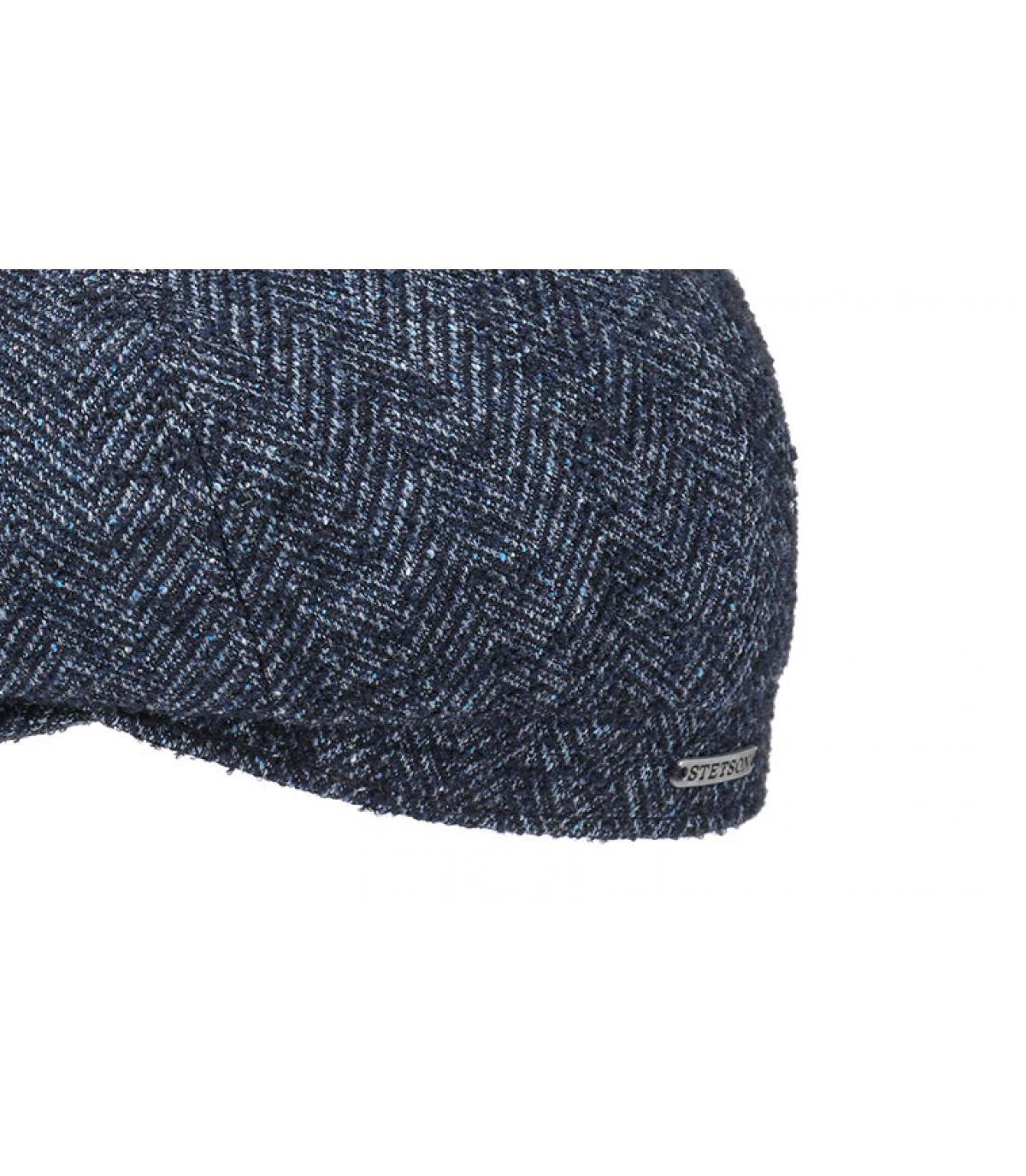 ... berretto strillone lana blu - Hatteras Virgin Wool blue herringbone  Stetson - image 3 dbbe55b807a7