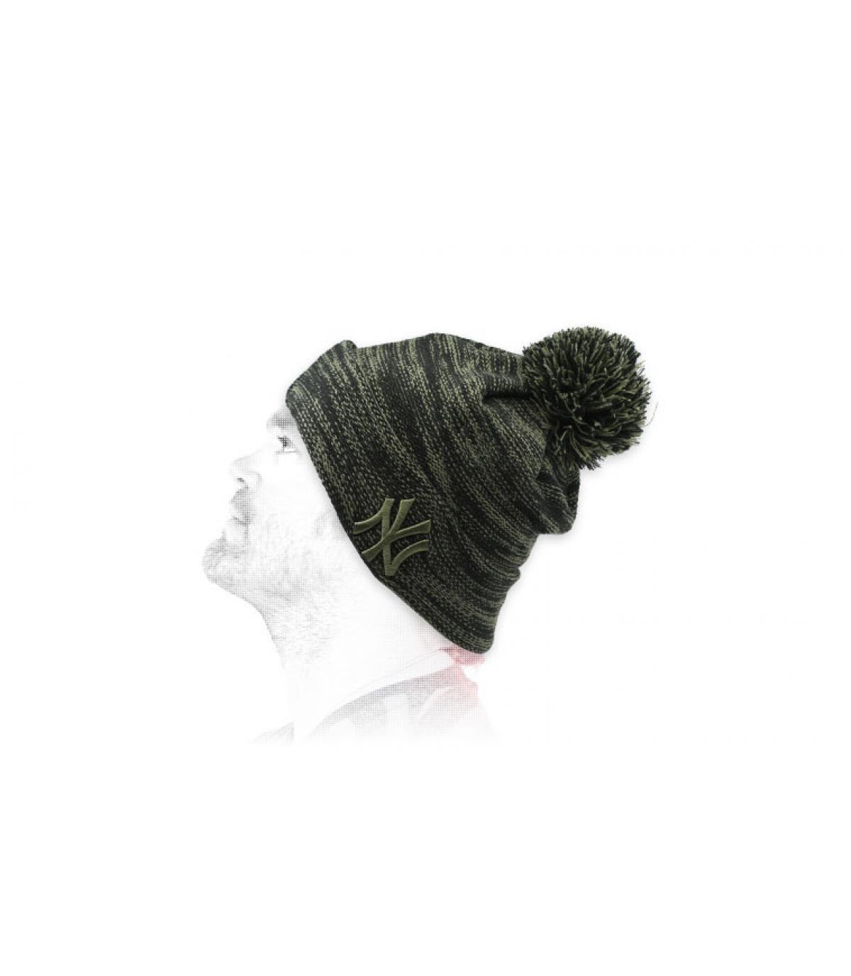 Cappello NY nero verde