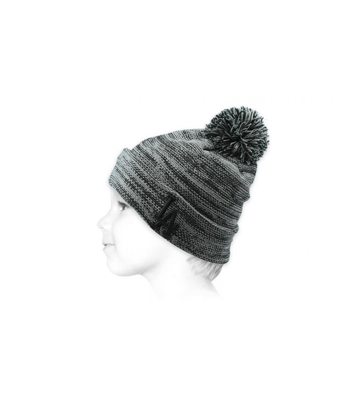 cappello nappa LA grigio