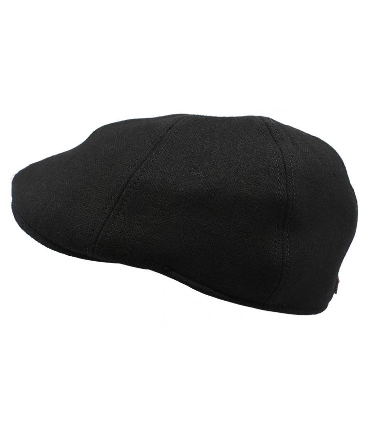 berretto di lana a becco d'anatra nero