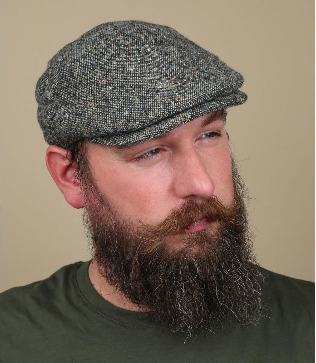 berretto grigio lana d'erica