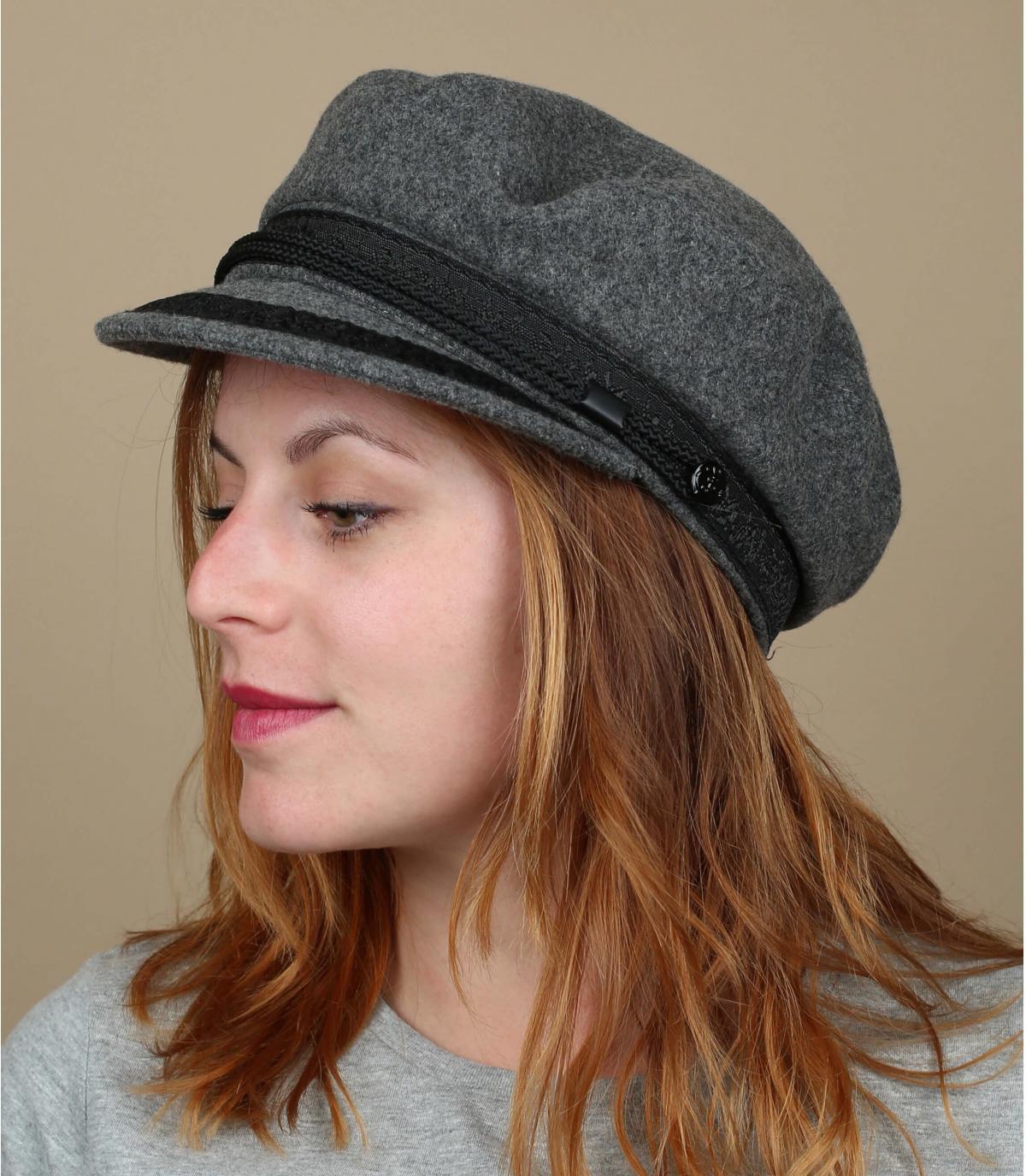 cappello da marinaio grigio chiaro